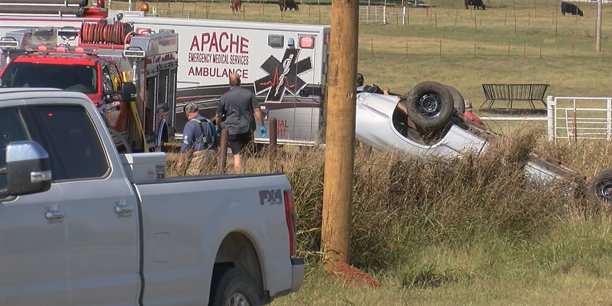 Driver flown to hospital after rollover crash in NE Comanche County