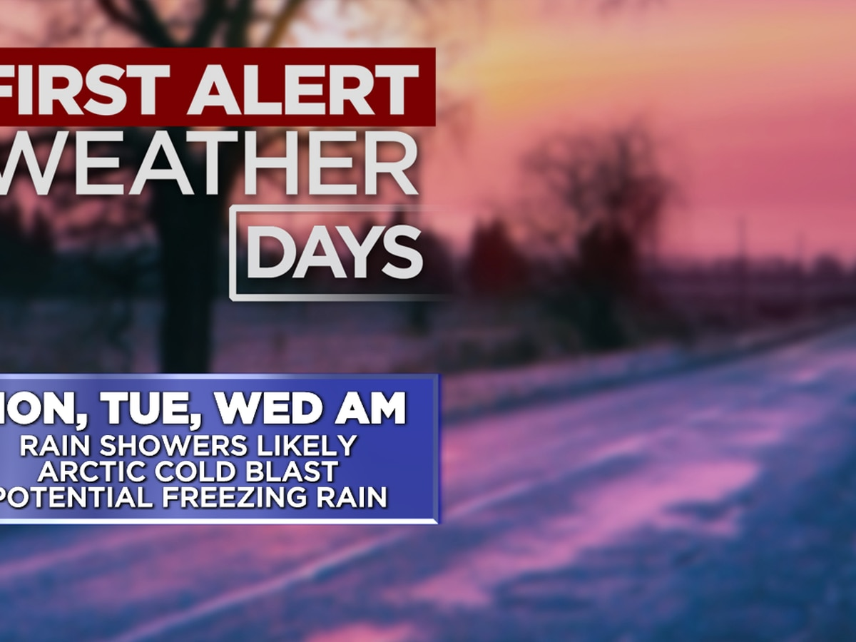 Freezing Rain Likely at Times Monday through Wednesday
