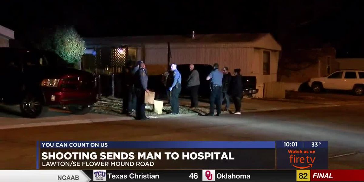 Man taken to hospital after shooting at Lawton mobile home park
