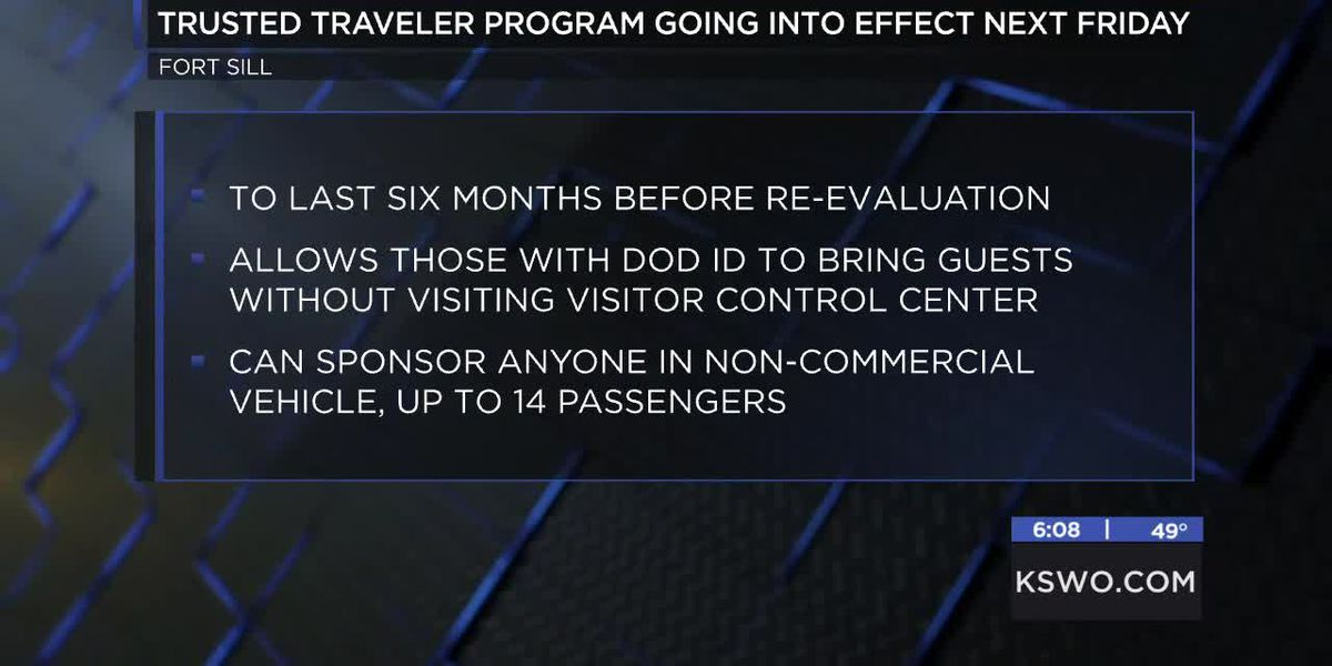 Trusted Traveler Program going into effect at Fort Sill