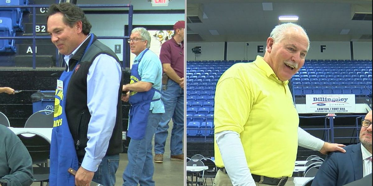 Booker, Tanner on the campaign trail before Lawton mayoral election
