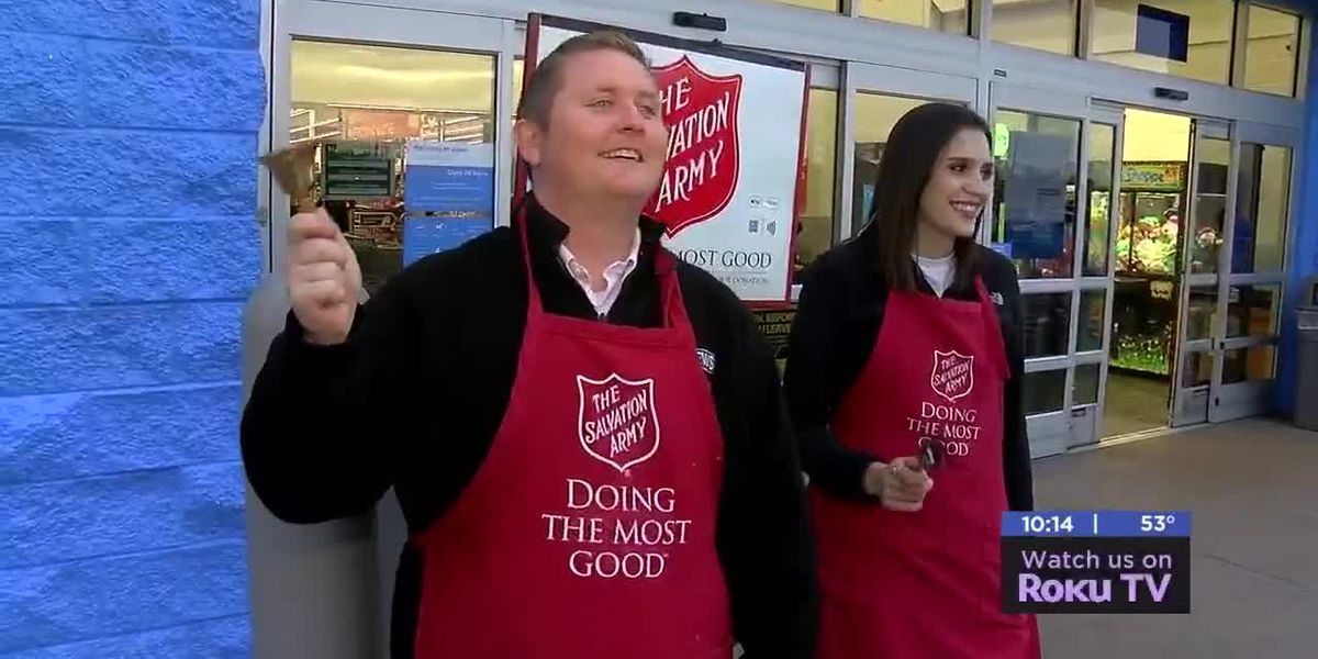 7News team rings bells for Salvation Army