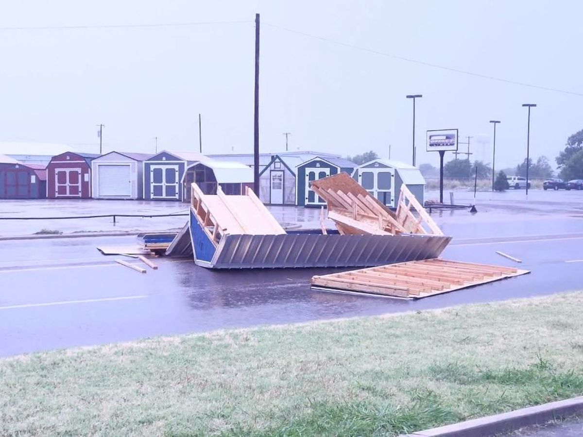 Storm damage in Altus