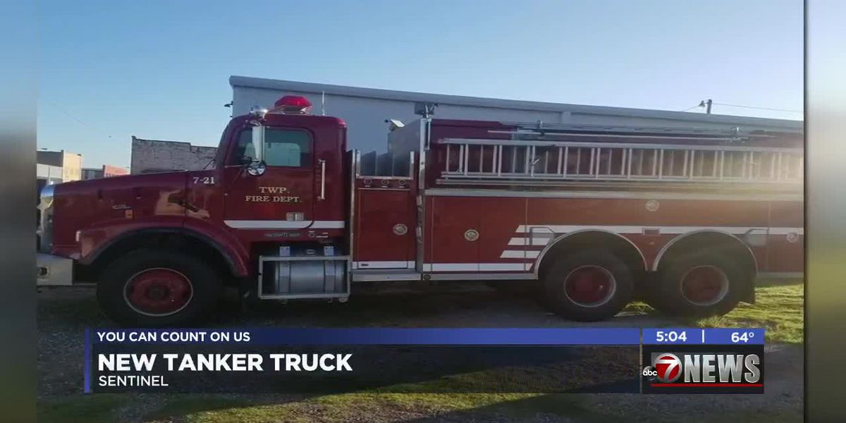 Sentinel Volunteer Fire Department gets new tanker truck