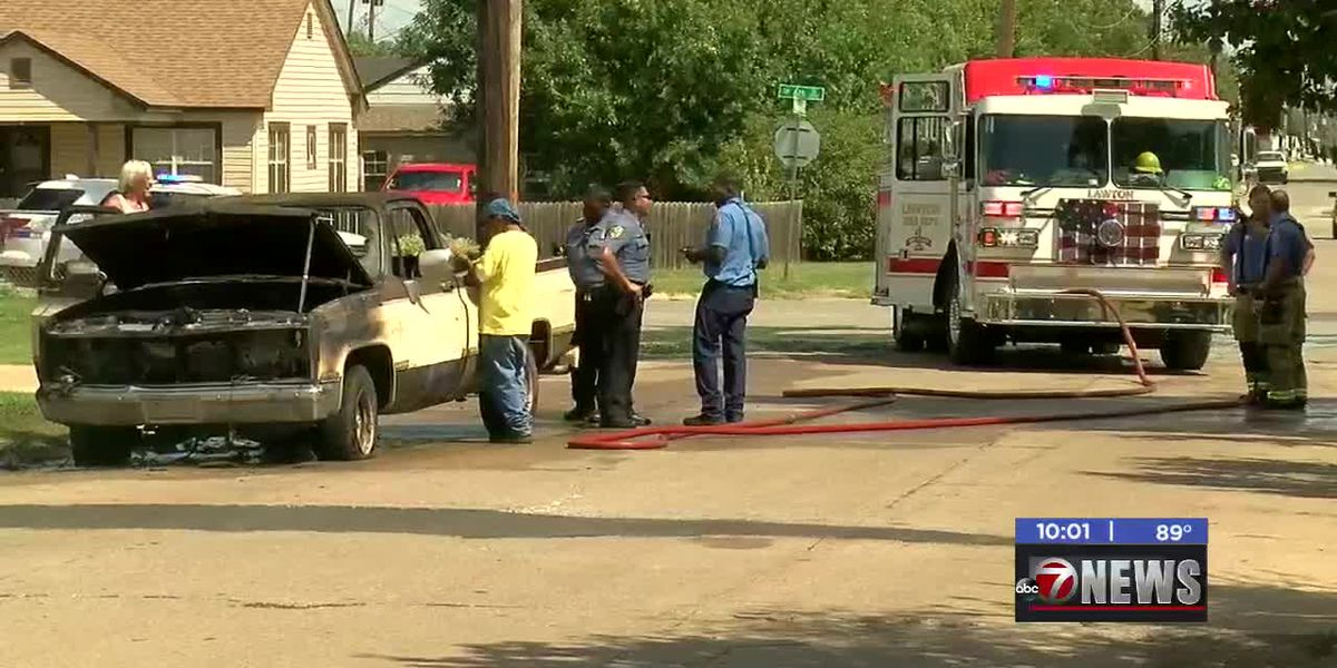 LFD responds to truck fire near 6th and Washington