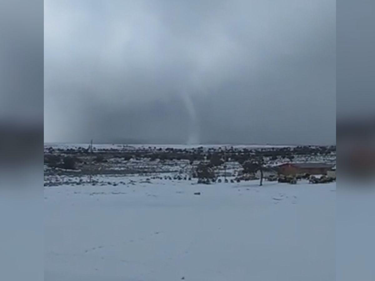 """Snownado"" in Northwestern New Mexico"
