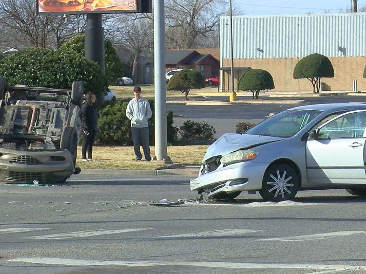 No one injured in Lawton rollover collision