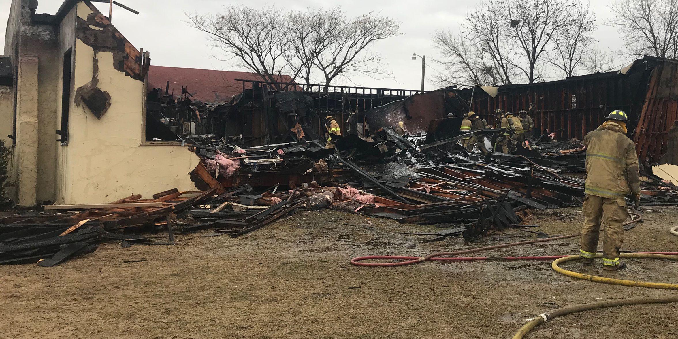 Wichita Falls church damaged by fire