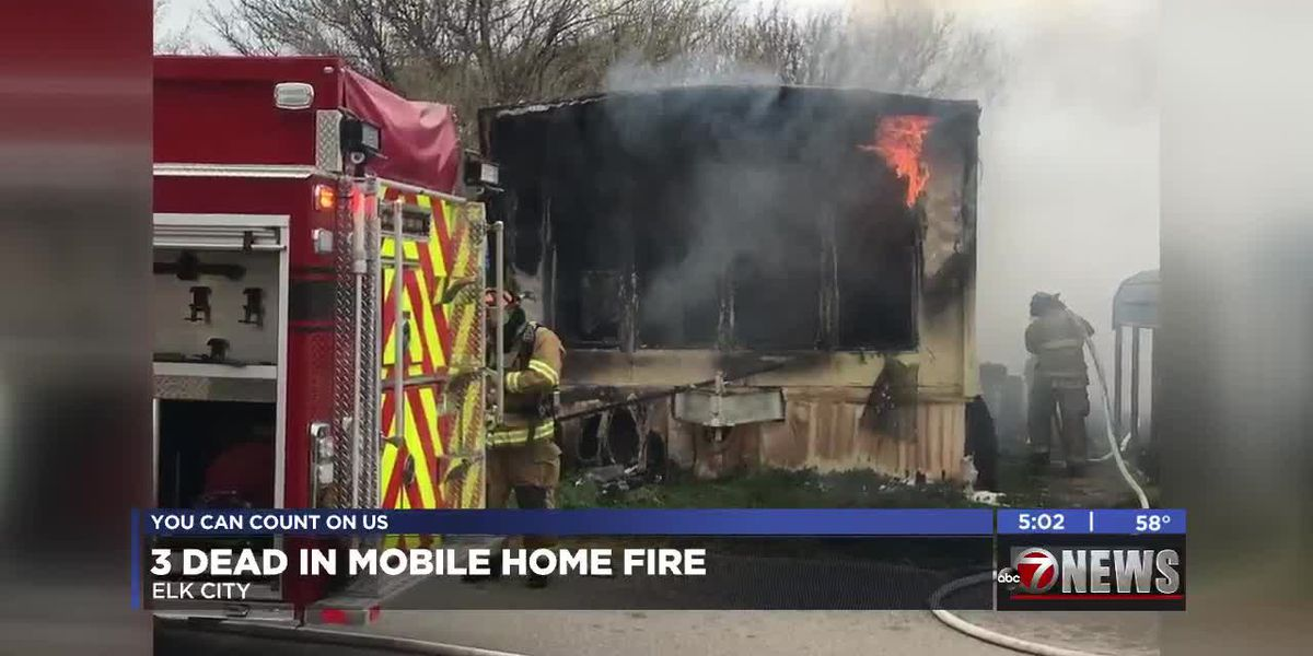 Three dead in Elk City mobile home fire